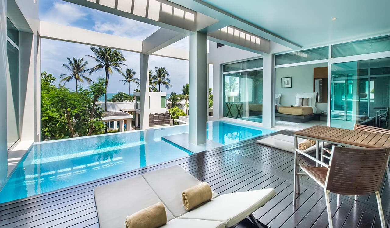 2 Bed Pool Villa Residence - Sun Deck, Swimming Pool, Sea Views - Aleenta Phuket Resort & Spa