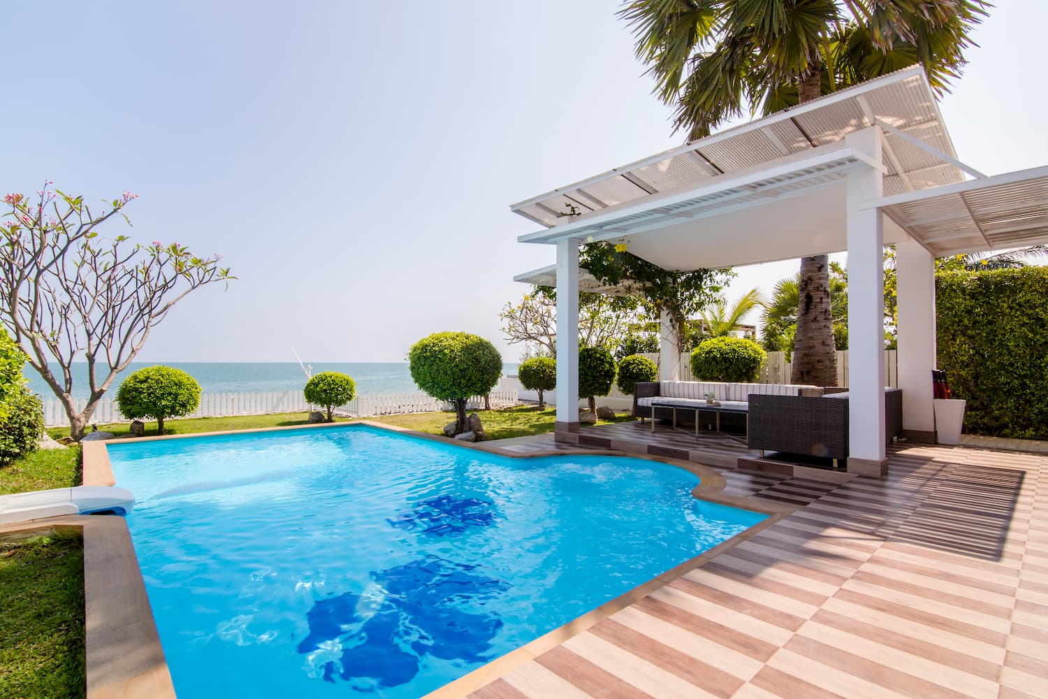 Four Bedroom Beach Villa view from Terrace - Aleenta Hua Hin Resort