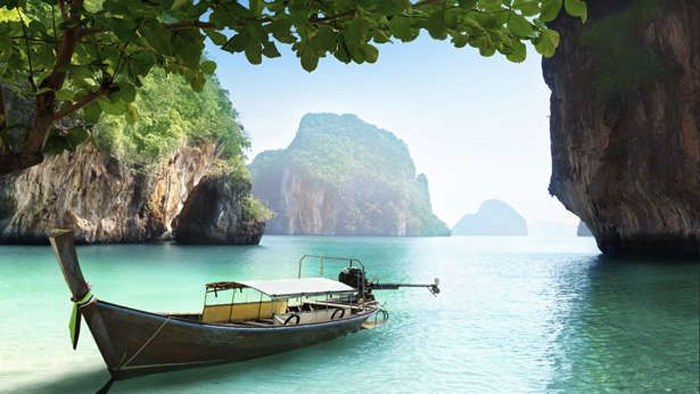 Local Boats in Phang Nga Bay