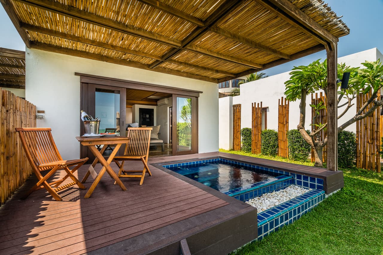 Beachfront Pool Residence Terrace and Plunge Pool on Beach - Aleenta Hua Hin Resort