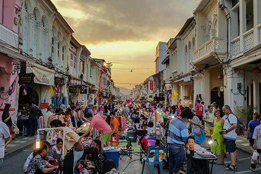 Night Market in Old Town Phuket