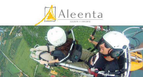 HEAD IN THE CLOUDS, FEET ON THE GROUND, HEART IN THE RIGHT PLACE...JOIN ALEENTA'S 'GOURMET GLIDERS'