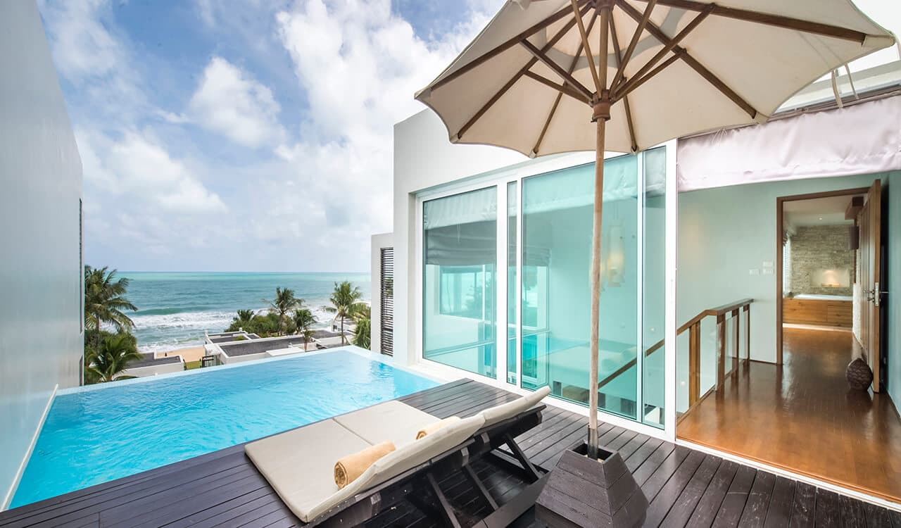 2 Bed Pool Villa Residence - Top Floor Sun Deck, Swimming Pool and Sea Views - Aleenta Phuket Resort & Spa