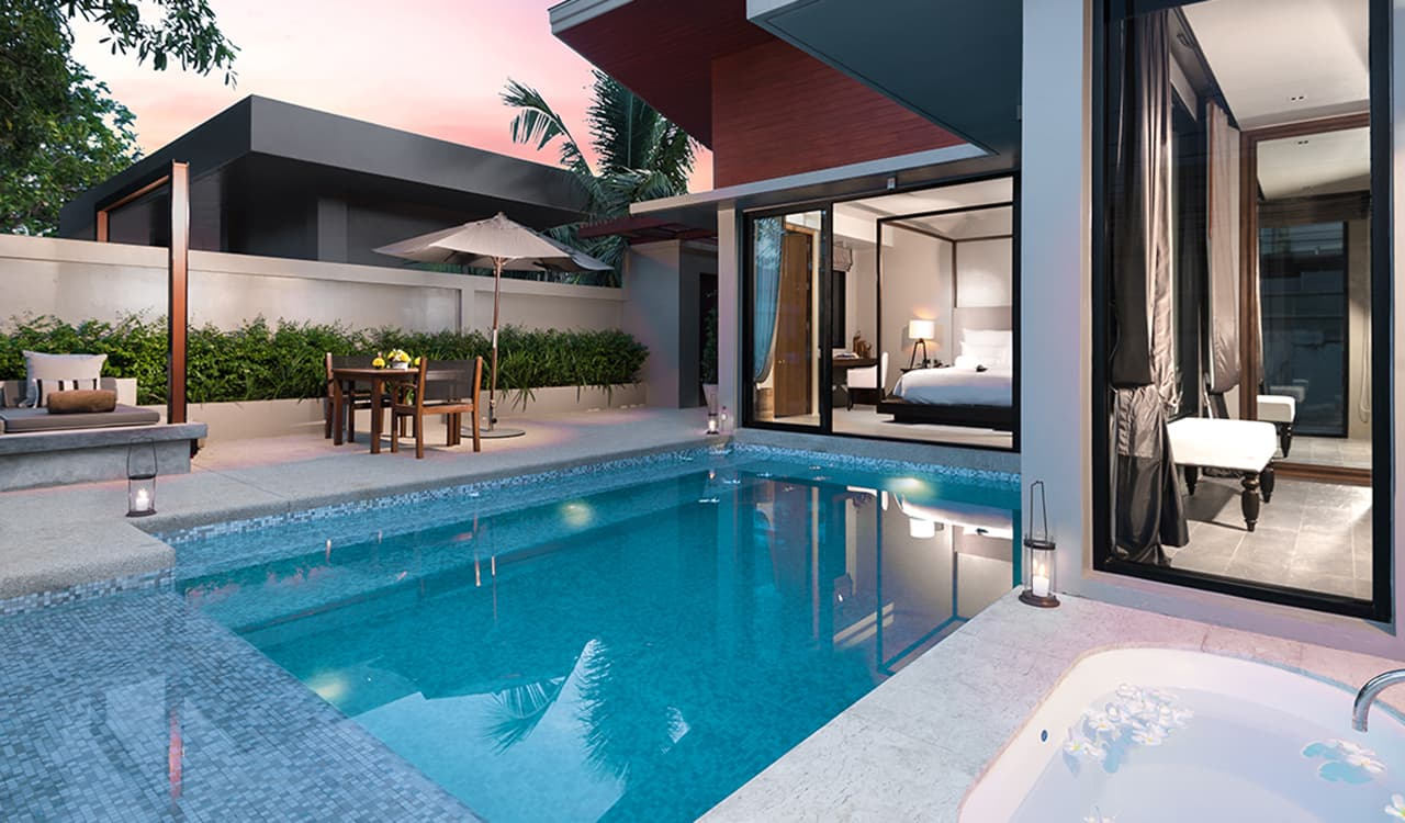Deluxe Pool Villa - Outside Jacuzzi and Swimming Pool - Aleenta Phuket Resort & Spa