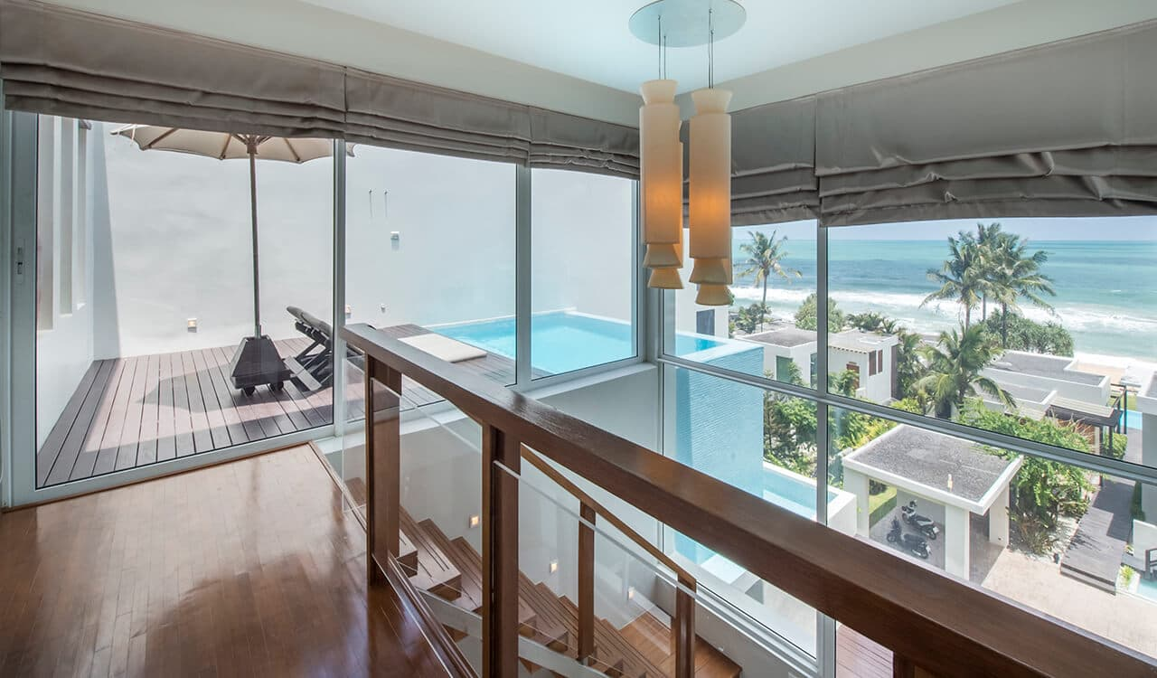 1 Bed Pool Suite Residence - View From Bedroom to Swimming Pool and Sea View - Aleenta Phuket Resort & Spa