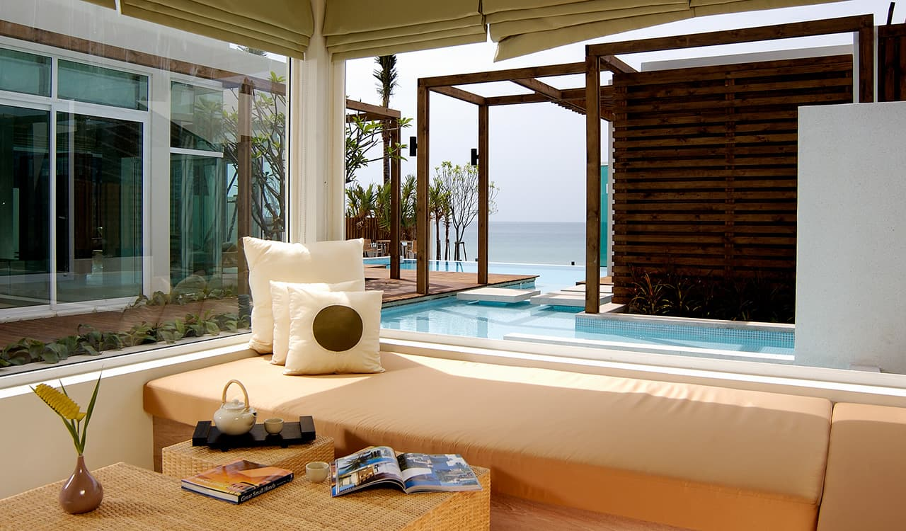 3 Bed Beach Villa - Day Lounge and Swimming Pool and Sea Views - Aleenta Phuket Resort & Spa
