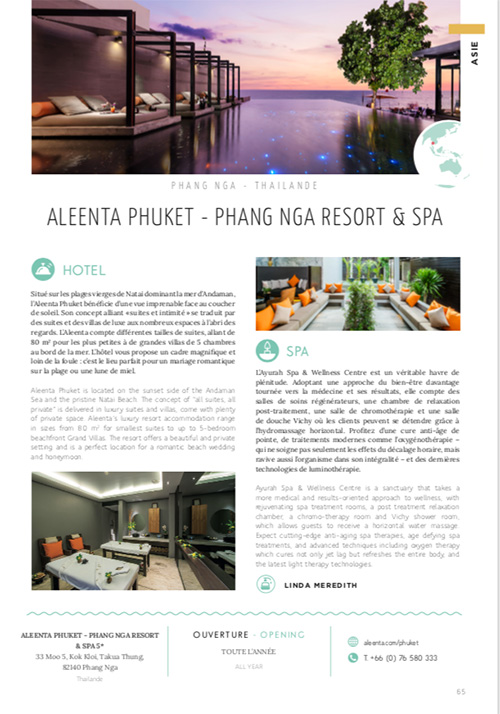Unique Hotel Spa Magazine | November 2018