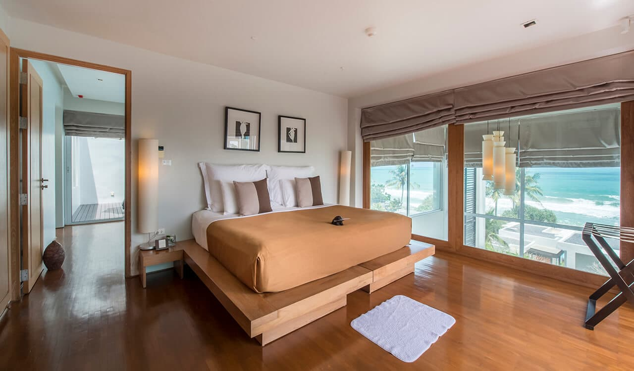 2 Bed Pool Villa Residence - Top Floor Bedroom with Sea Views - Aleenta Phuket Resort & Spa