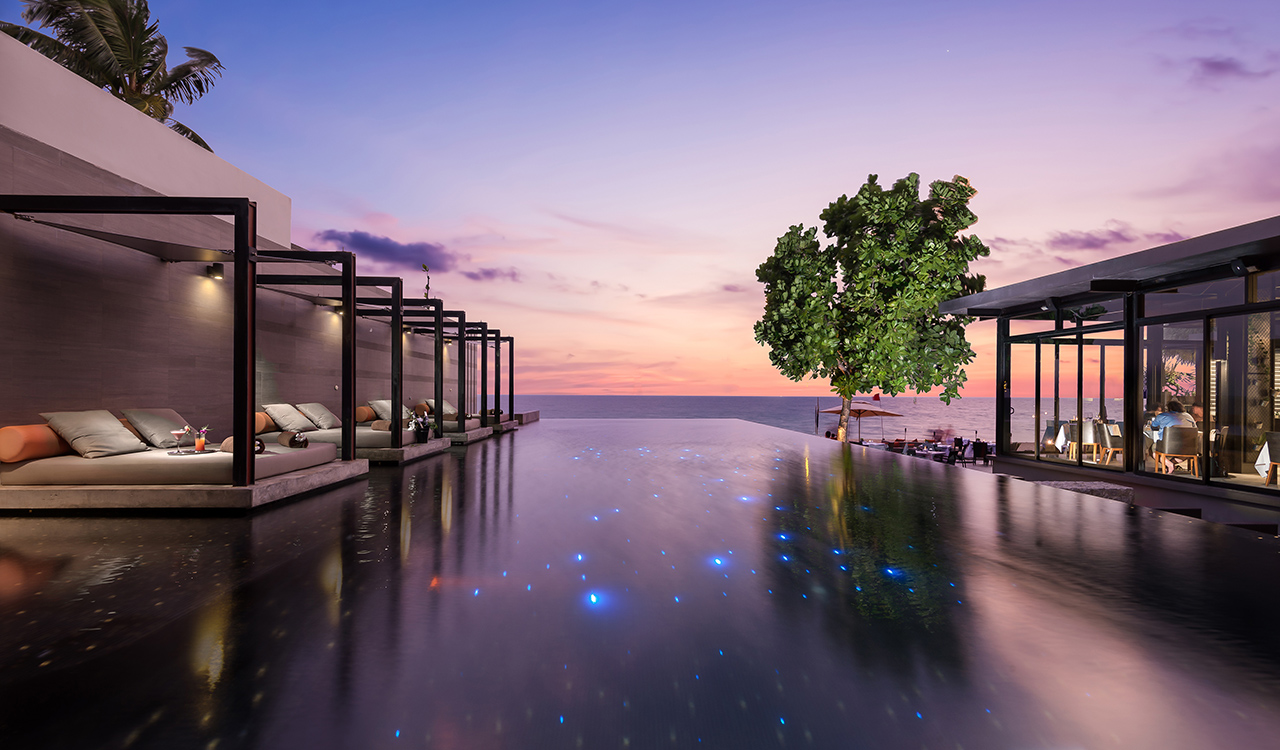 The Edge Restaurant at Aleenta Phuket Resort & Spa overlooking the sea