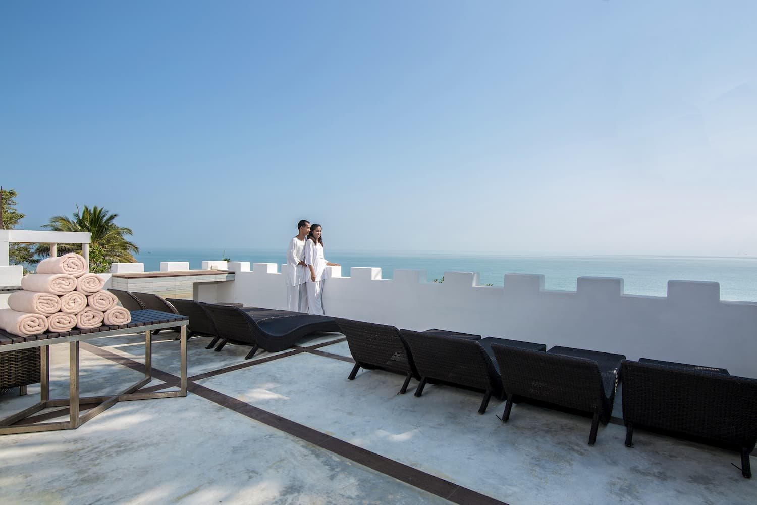 Four Bedroom Beach Villa Roof Terrace View - Aleenta Hua Hin Resort