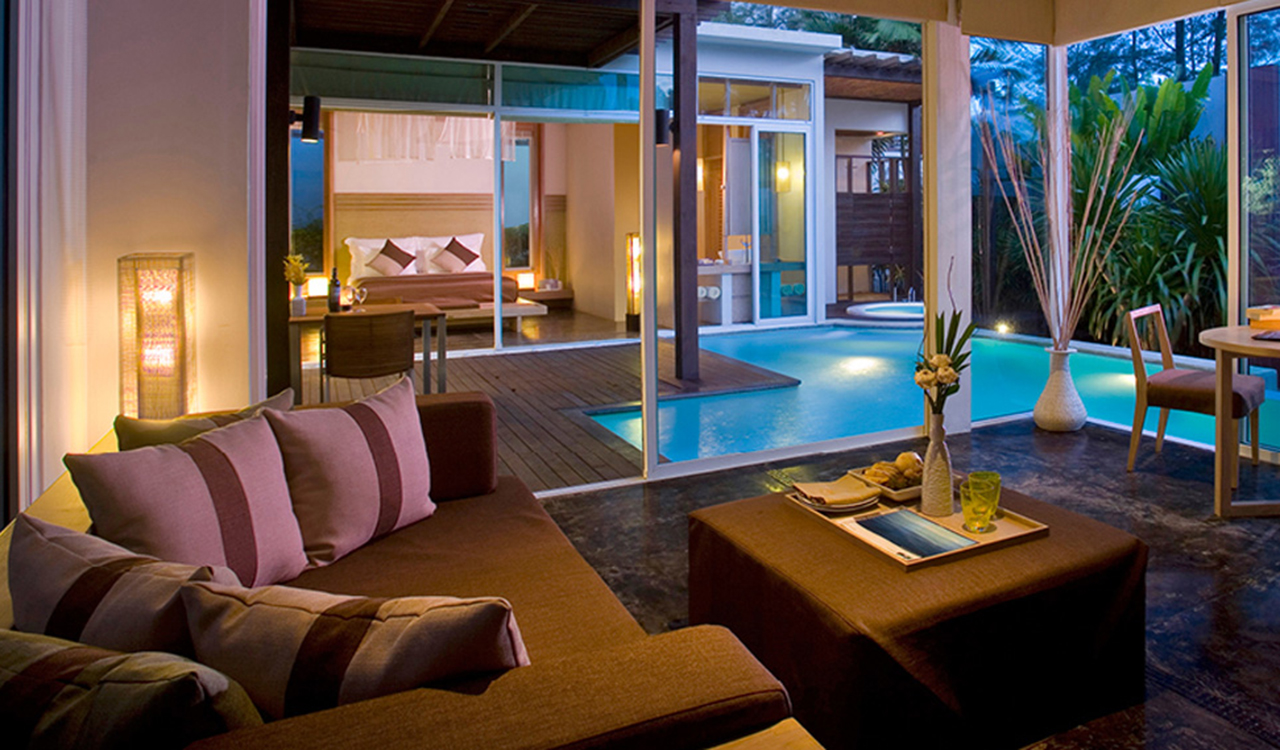 Luxury one bed villa with private pool aleenta phuket for 5 star living rooms