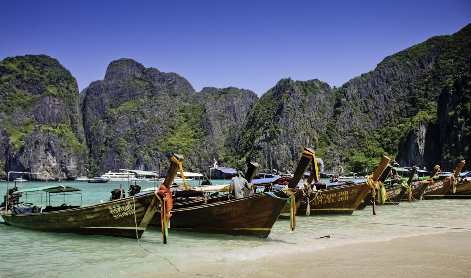 Longtail Boat on Phi Phi Leh Island