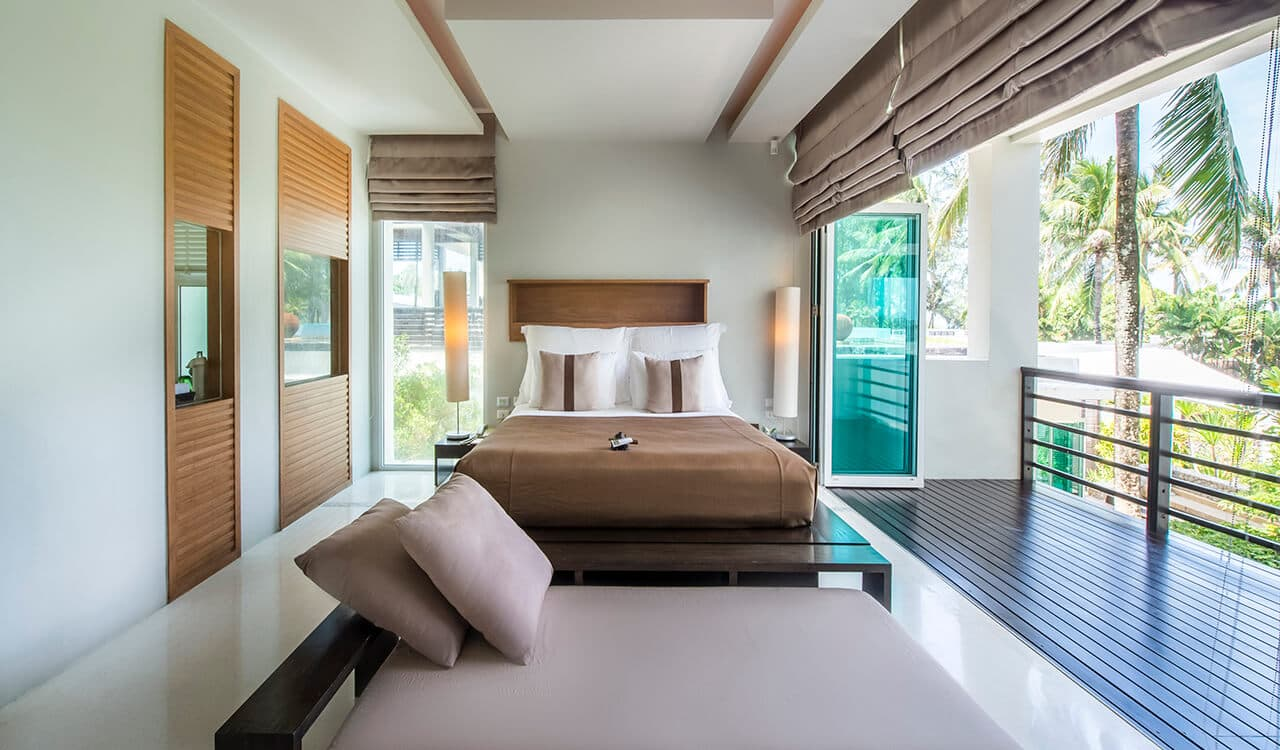 2 Bed Pool Villa Resdince - Bedroom, Day Bed, Balcony - Aleenta Phuket Resort & Spa