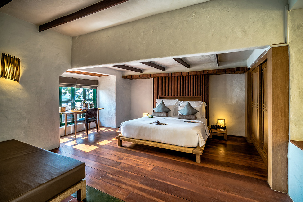 Open plan two bedroom grandipani suite at Aleenta Hua Hin Resort & Spa