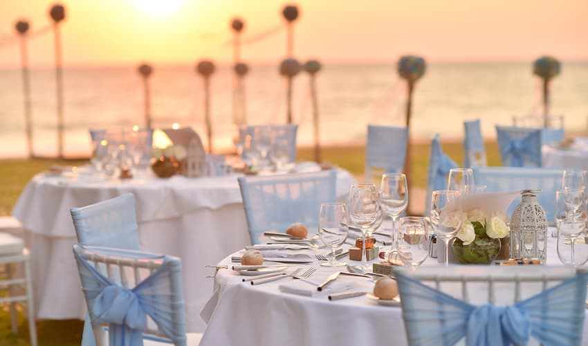 Beach Wedding Reception in Thailand - Aleenta Phuket