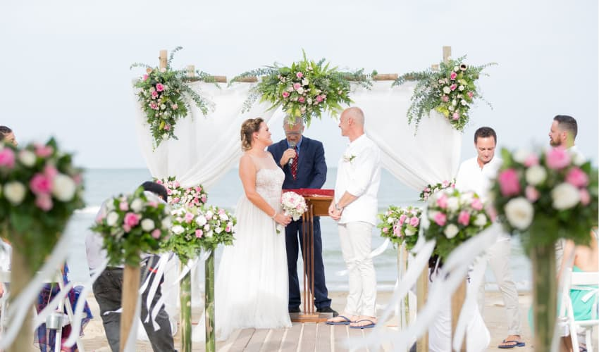 Beach Wedding Ceremony in Thailand - Aleenta Hua Hin
