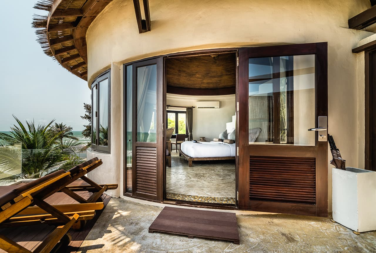 Private Terrace with Sea Views from Penthouse Suite - Aleenta Hua Hin Resort